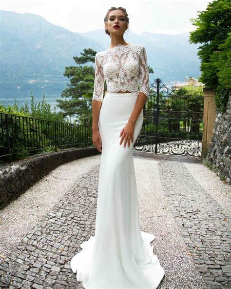 piece wedding dress ideas  pinterest  piece gown  piece wedding dress