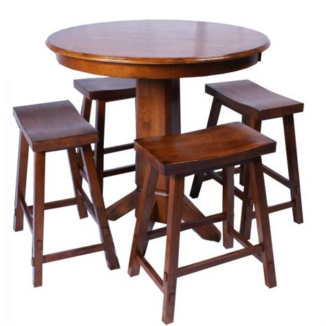 Bar Table Set by Creations Counter Height Pub Set