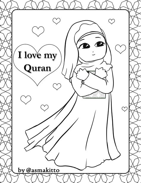 muslim family coloring pages coloring pages