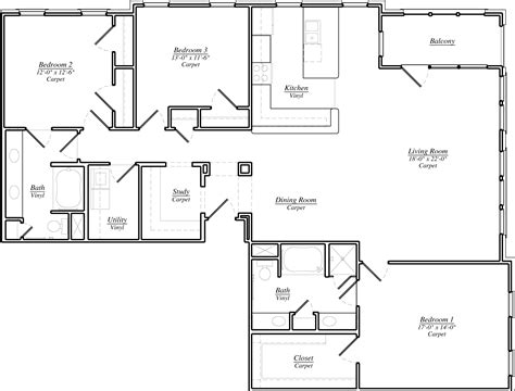 floor l l shaped house plans