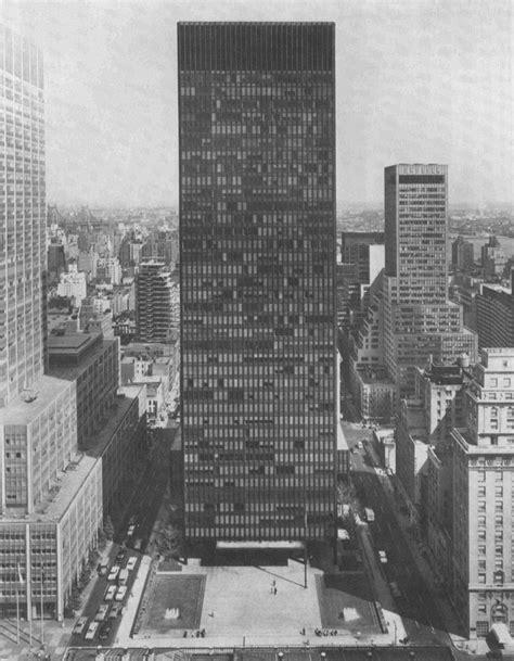 ludwig mies van der rohe the seagram building new york the seagram building new york city 1957 375 park