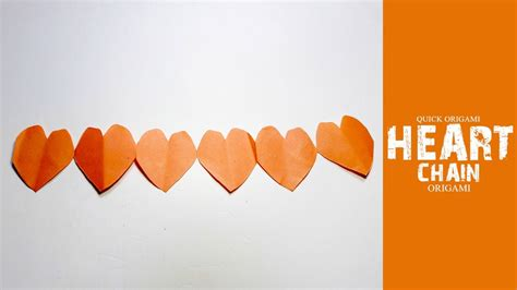 How To Make A Folded Paper Chain - how to make origami chain valentines day paper