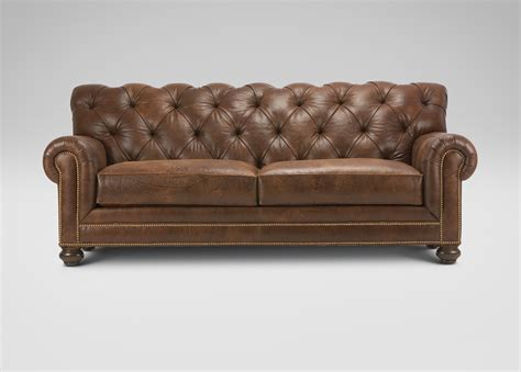 Ethan Allen Couches by Chadwick Leather Sofa Sofas Loveseats