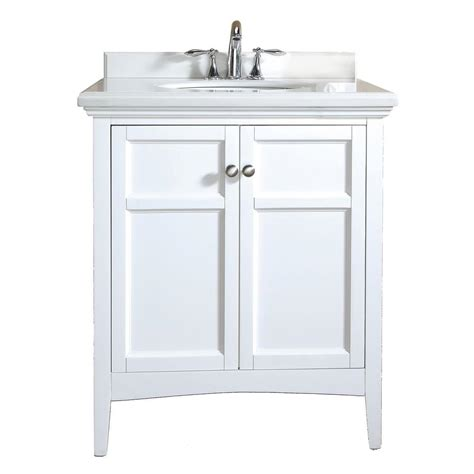 Ove Vanity by Ove Decors Co 30 In Vanity In White Lacquer With