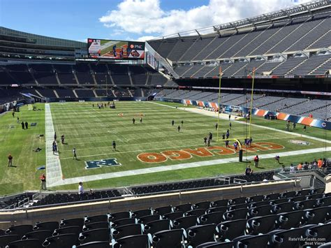 soldier field section 218 200 level colonnade soldier field football seating