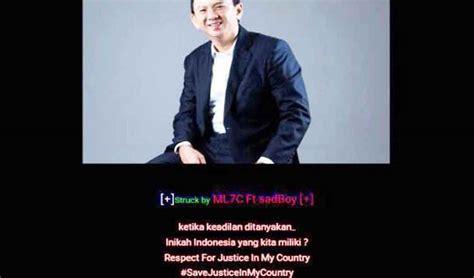 ahok website website pengadilan agama pangkalan bun diretas muncul