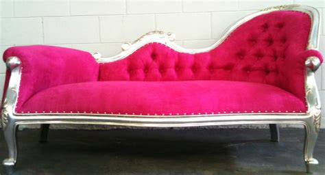 hot pink chaise lounge midtown girl decor hollywood regency pink chaise