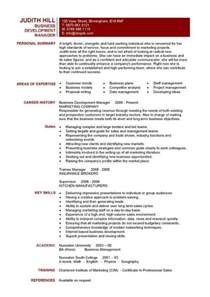 business development manager resume sles business development manager cv template managers resume