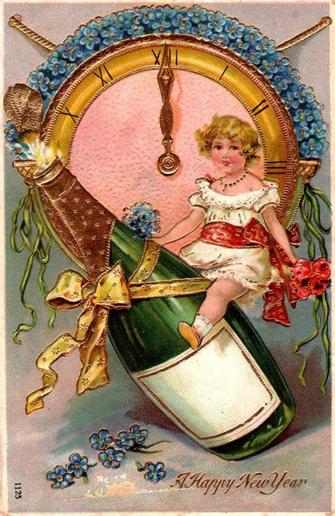 new year postcard 239 best vintage new year s images images on