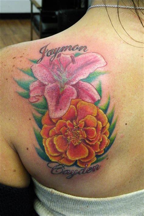 tattoo flower birth month marigold tattoo lily birth month tattoo tattoos