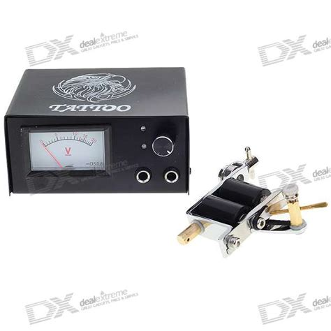 tattoo gun power supply voltage body art tattoo gun machine set with gun needle tips