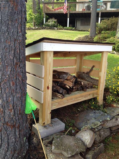 diy firewood shed  garden plans   build