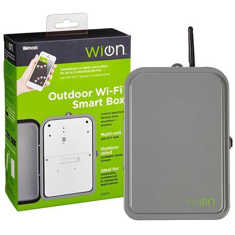 wifi outdoor wion 50054 outdoor wi fi smart box wireless time switch