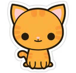 Bird Decor For Home quot kawaii ginger cat quot stickers by peppermintpopuk redbubble