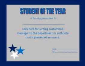 student of the year award certificate templates award certificate template cyberuse