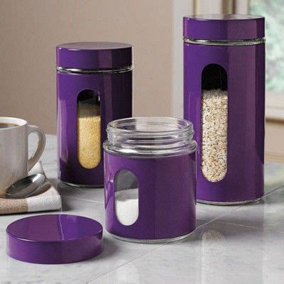purple canisters for the kitchen purple canisters em minha cozinha style