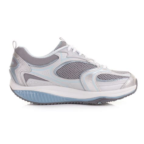 shape up shoes womens skechers shape up accelerator blue silver trainers