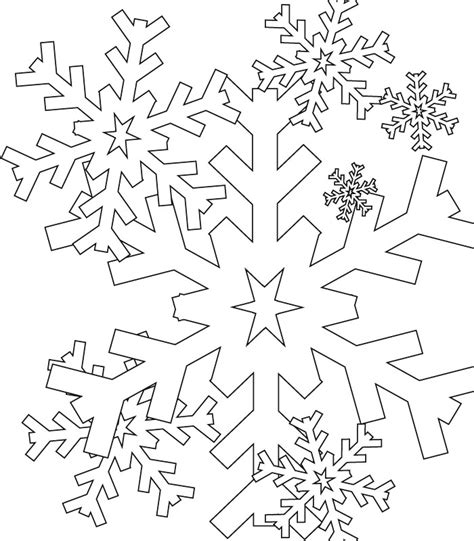 free snowflake snow christmas coloring pages