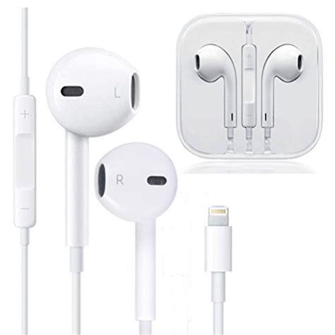 earphones microphone earbuds stereo headphones noise isolating headset compatible with iphone 7