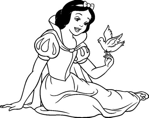 snow white disney princess coloring pages to girls