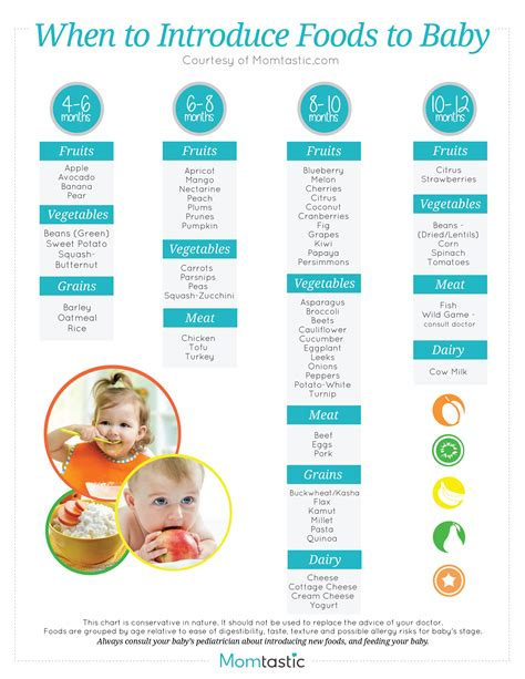 when can babies eat table food introducing solids a month by month schedule free printable