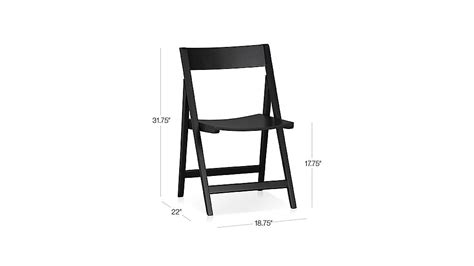 black wood folding dining chair spare black folding wood dining chair crate and barrel