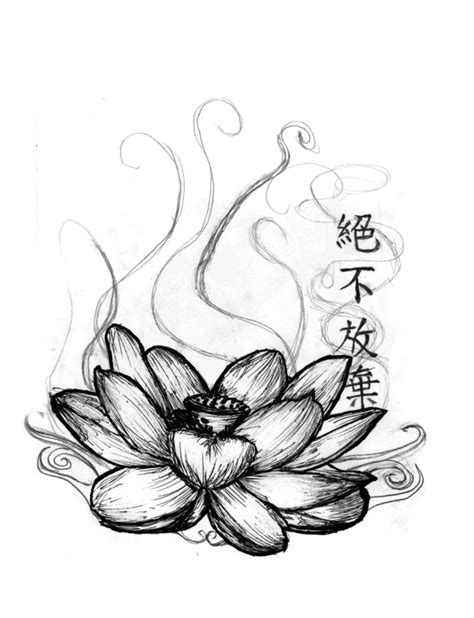 lotus kanji tattoo kanji n lotus tattoo sketch photo 1 2017 real photo