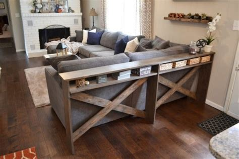 how is a sofa table diy sofa tables to dress up the back of a dig this