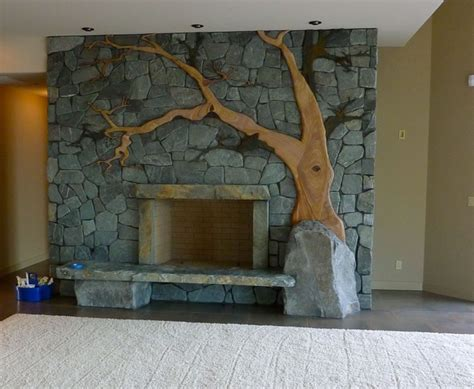 Fireplace Stonework by Custom Stonework Fireplace Living Room