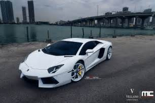 White Lamborghini Aventador For Sale Epic White Lamborghini Aventador On Vellano Wheels Gtspirit