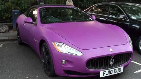 maserati purple matte pink purple maserati grancabrio