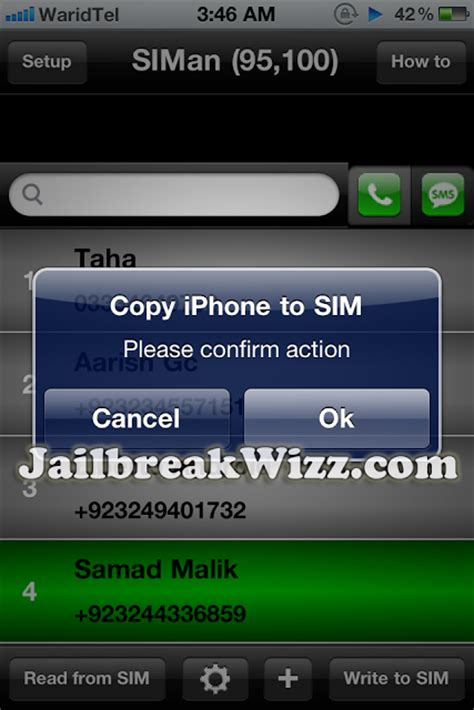 copy iphone contacts  sim card
