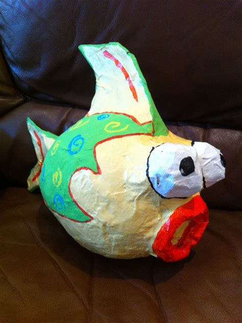 Paper Mache Craft Ideas - paper mache fish school ideas
