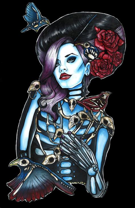 zombie pin up girl tattoos pin up skeleton pin up