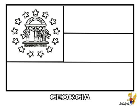 georgia flag free colouring pages