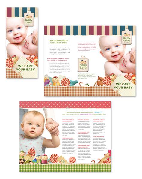 Babysitting Tri Fold Brochure Template Babysitting Brochure Template
