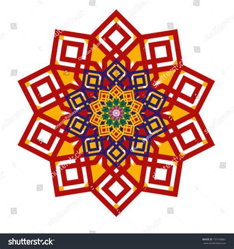 decorative geometric design arabic decorative geometric pattern islamic design stock