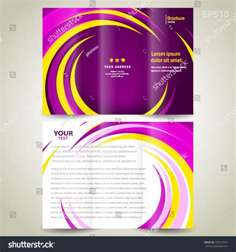 circle brochure template brochure design template trifold geometric spiral stock