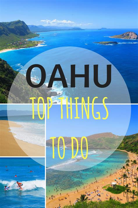 top 10 things to do in oahu hawaii pin x days in y