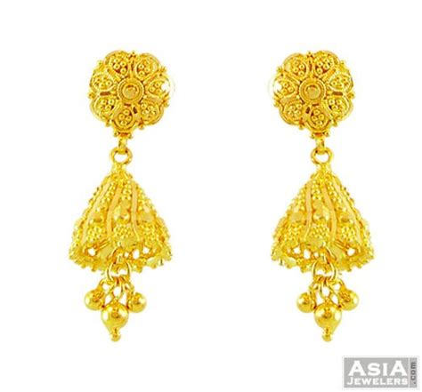 22k gold earrings designs 22k gold jhumka earring designs newhairstylesformen2014 com