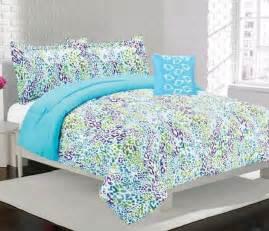 Cheetah print bedding alice girls kids bedding comforter set blue