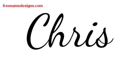 chris name tattoo designs lively script name designs chris free