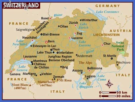 map of switzerland cities switzerland map toursmaps
