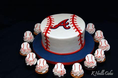 themed birthday cakes atlanta atlanta braves theme cake with cupcakes sweet treats