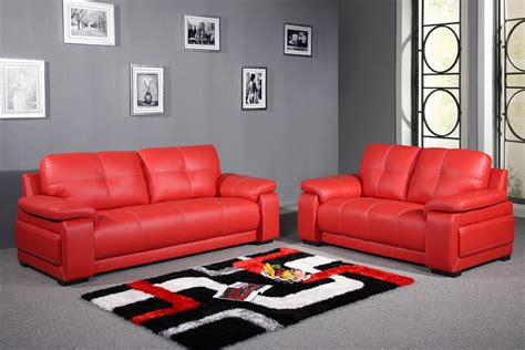 home decor sofa set contemporary style living room with red leather sofa set