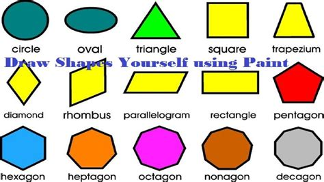 list the different shapes ofthe face used inthe shape below maths shapes with names worksheets releaseboard free