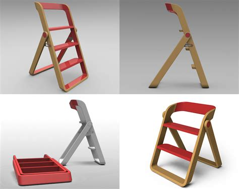 fold up step ladder designing for step stools core77