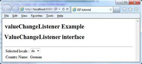tutorialspoint jsf jsf valuechangelistener