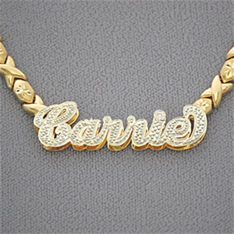 gold nonnude 10kt gold personalized name necklace pendant