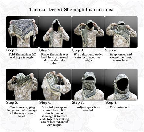 how to tie tactical desert shemagh headwraps